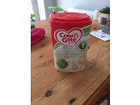 Cow & gate first infant milk New unopened