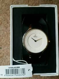 A Stunning Obaku everyday Ladies Silver & Leather Strap Watch
