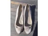 Size 6 bridal low heel, satin with tulle