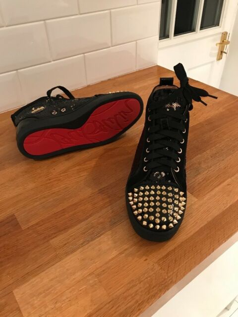 new style ed523 5a30a Christian Louboutin Black/Gold Sequins Trainers Shoes Sneakers | in  Dartford, Kent | Gumtree