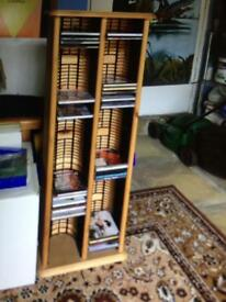 Solid pine CD rack