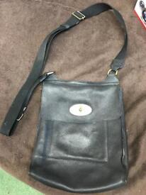 Genuine Mulberry Black Messenger Bag