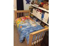 Dropside cot bed solid beech. Kiddicare