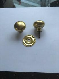 Polished brass knobs