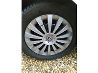 4 x Wheels with Winter Tyres 205 / 55R16 Suitable for Volkswagen Golf Mk VII
