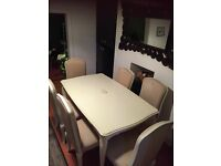 Laura Ashley dining table with 6 chairs