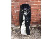 Very rare Puma leather golf bag