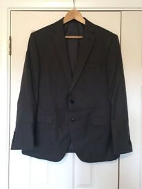 Grey Slim Fit Suit Trousers and Jacket