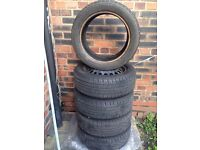 4 Tyres for sale 185/55R15