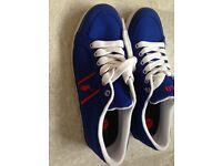 Ralph Lauren Polo Blue Casual Trainers Size 5.5