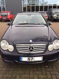 Mercedes-Benz C Class ,1.8L C180 Kompressor 2dr, Dark Blue