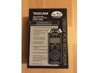 **SEALED** TASCAM DR-05 v2 LINEAR PCM RECORDER BRAND NEW. LATEST VERSION 2