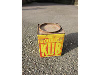 Vintage KUB BOUILLON French Tin Box