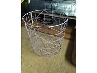 Lilac metal storage basket
