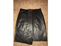 Ladies H&M Faux Leather Skirt size 10