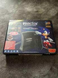 Reactor wireless gaming console. Sega mega drive.