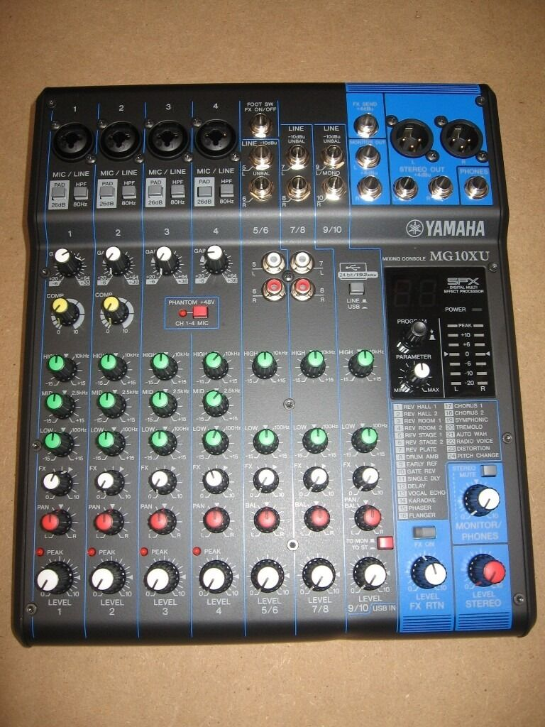 Yamaha Mg10xu Mixer With Effect And Usb B Stock See Notes In