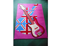 Girls Funky Guitar Rug