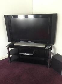 """42"""" Philips television with corner stand"""