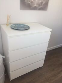3 months old chest 4 drawers white available december