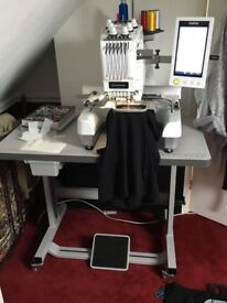 Embroidery machine ideal for small business or personal use