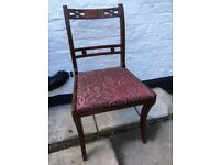 Set of six vintage rosewood mahogany dining chairs
