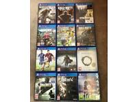 Collection of 12 PlayStation 4 Games
