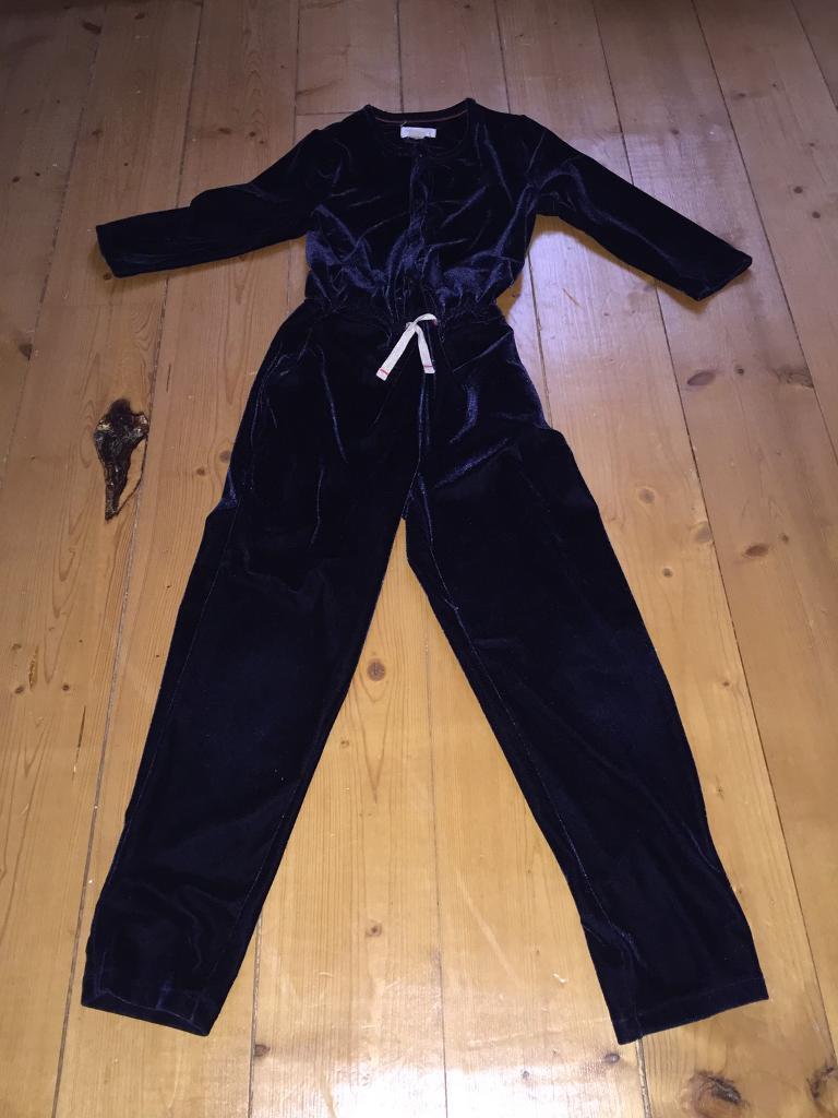 Mini Boden By Johnnie B Velvet Jumpsuit Age 7 8 In Dunfermline