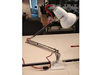 Anglepoise Lamp 1227 White & Red RARE