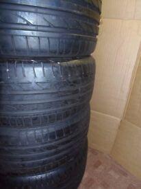 Bridgestone Potenza 225/40/19 / 255/35/19 done 200 miles runflats
