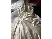 Ronald Joyce champagne wedding dress
