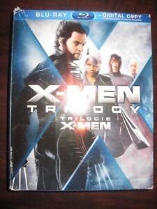 X-men Trilogy Pack. Blu Ray Movie DVD Film. Action. Adventure. Hugh Jackman, Halle Berry, Patrick Stewart, Ian McKellen