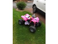 Girls Pink Quad Bike 5+