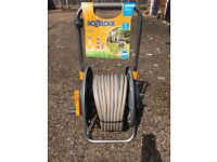 Brand new Hozelock cart with 30m hoze and accessories