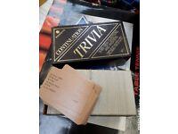Trivia card game - retro vintage