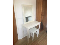 Lovely dressing table, mirror and stool, vgc