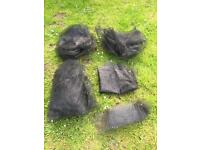 Lots of Black Plastic Netting/Garden Mesh