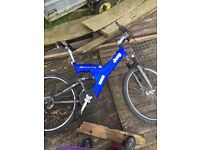 Old bikes silver fox, jeep, Scott, Onza frame, Peugeot, and a very old Hercules All spares or repair