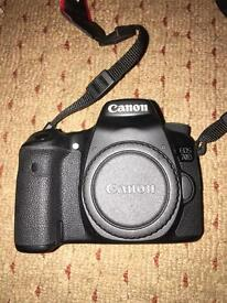 Canon 70d DSLR with 18-55 and 55-250 lenses and accessories