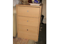 Two bedside cabinets fair condition light wood effect material
