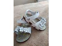 NEXT white sandals 6