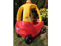 Little tikes cozy coupe car with light