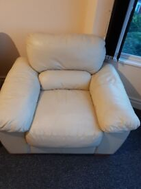 One seat leather sofa