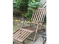 High quality wooden outdoor lounge chair (with cushion)