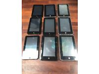 Joblot of 9 android tablets no chargers