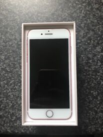 Rose gold iPhone 7 32GB for sale, great condition, less than a year old.