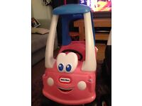 Little tikes cosy coupe pink princess car.