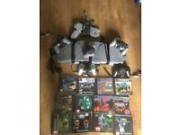 2 x Original PlayStations 1 consoles 5 controls Sony namco gun & 4 memory cards