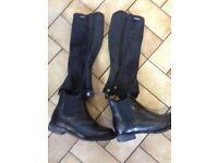 Ladies ankle riding boots & half chaps