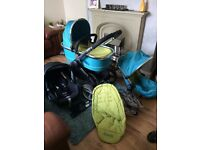 pram pushchair car seat icandy carry cot cosytoes rain cover